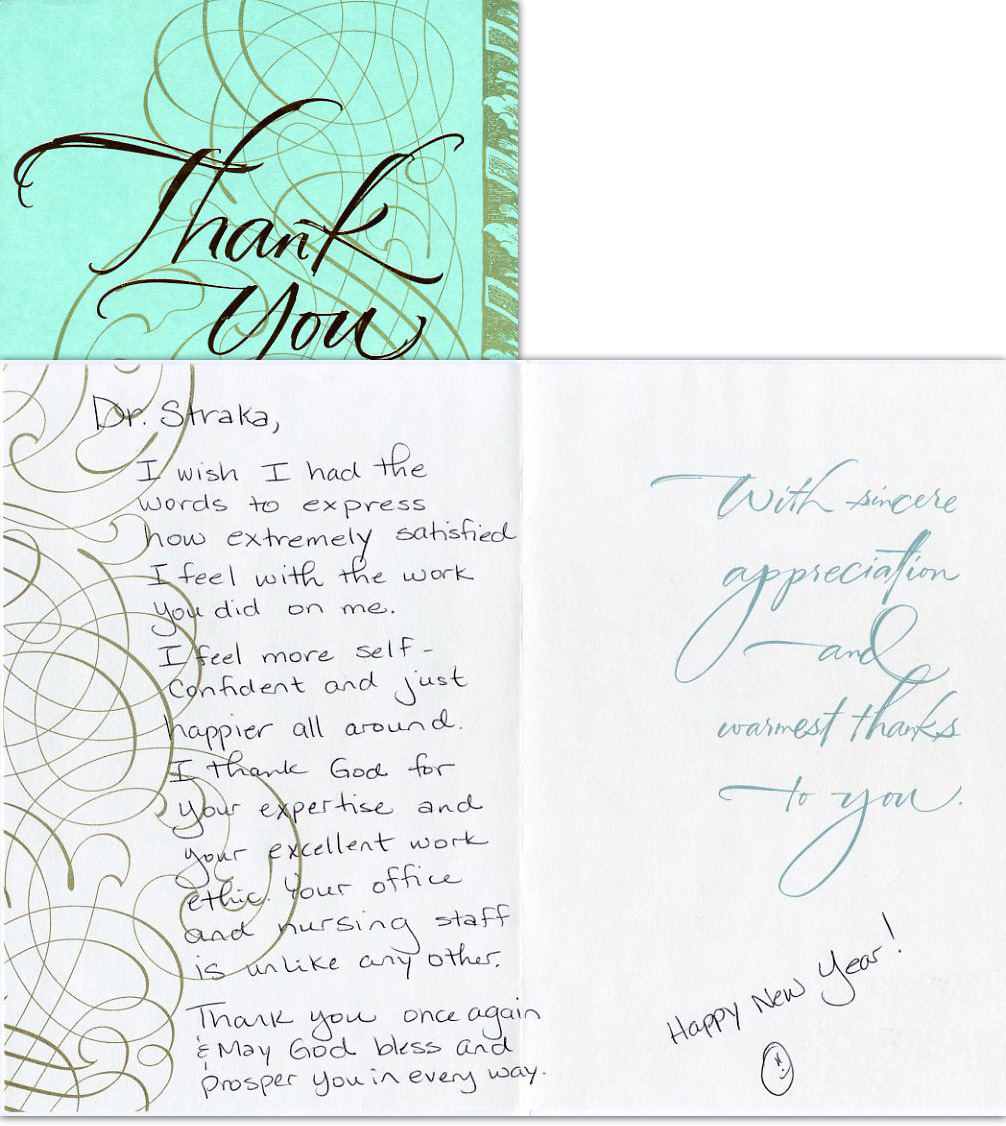 Extremely satisfied - Thank You Card