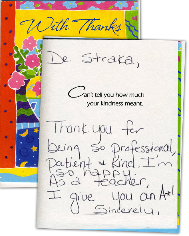 I give you an A+! - Thank You Card
