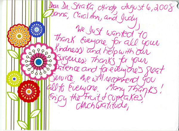We will recommend you all to everyone - Thank You Card