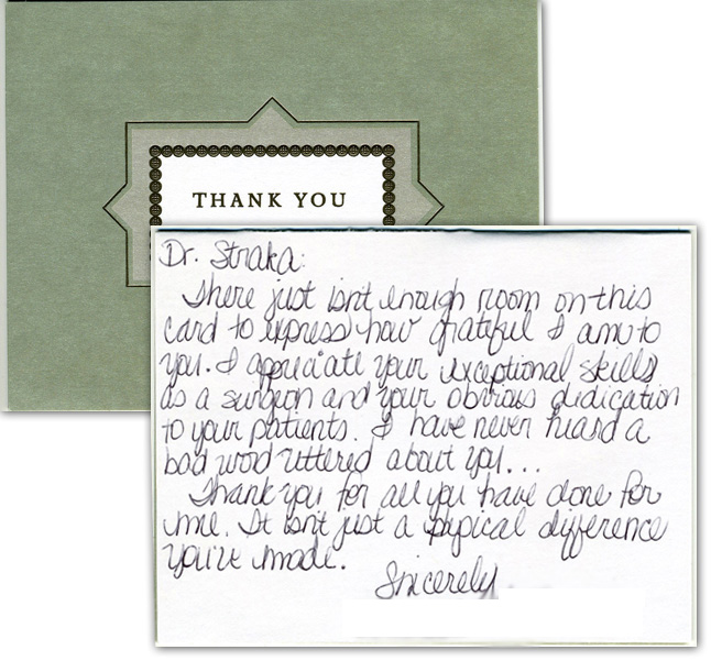 I appreciate your exceptional skills as a surgeon - Thank You Card