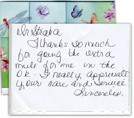 I really appreciate your care and service - Thank You Card