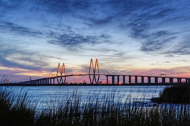 Houston Bridge in the Morning