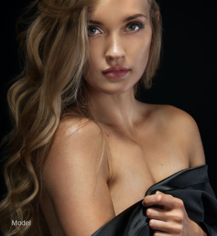 Model breast implant removal